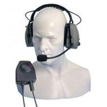 Double earpiece ear defender comfort headband with in line PTT (Vox)