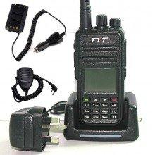 MD-380 Mobile Package UHF DMR Radio + Programming Cable & Software + Speaker Microphone + Battery Eliminator