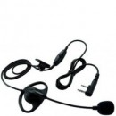"Boom Microphone with ""D"" Earpiece and PTT"
